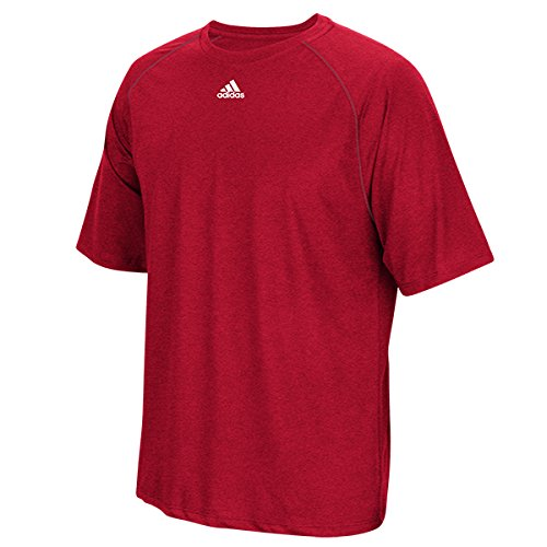 - Adidas Men's Adult Performance Climalite Tee T-Shirt Wicking (Power Red M)