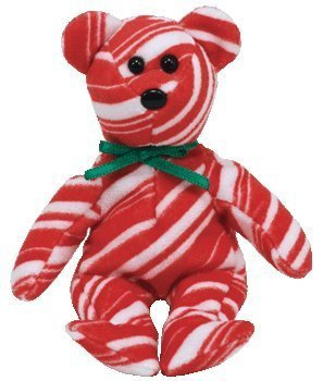 TY Jingle Beanie Baby - PEPPERMINT the Bear (Walgreens Exclusive)