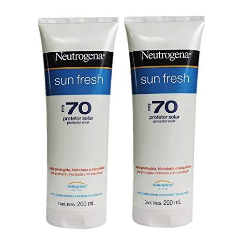 Kit com 2 Protetores Solar Neutrogena Sun Fresh Corpo FPS 70 200ml.