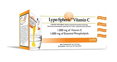 Lypo-Spheric Vitamin C - 2 Cartons (60 Packets) - 1,000 mg Vitamin C & 1,000 mg Essential Phospholipids Per Packet - Liposome Encapsulated for Improved Absorption - 100% Non-GMO