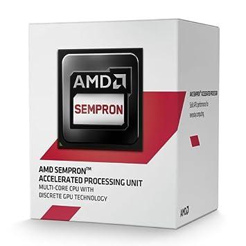 AMD APU Sempron 3850 Quad Core Processor, Socket AM1, 1 30GHz, 2MB, 25W,  AMD Radeon HD 8280, SD3850JAHMBOX, Advanced Vector Extensions,  Virtualization