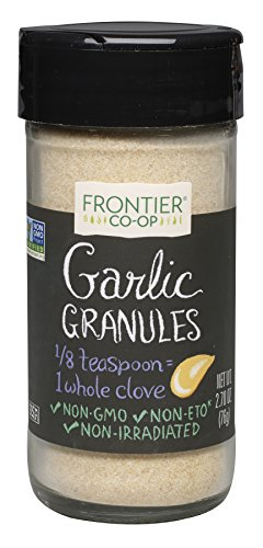 Frontier Culinary Spices Garlic Granules, 2.7-Ounce (Organic Garlic Granules)