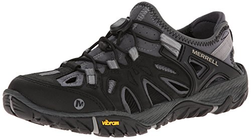 Teva Water Shoes - Merrell Men's All Out Blaze Sieve Water Shoe, Black/Wild Dove, 10 M US