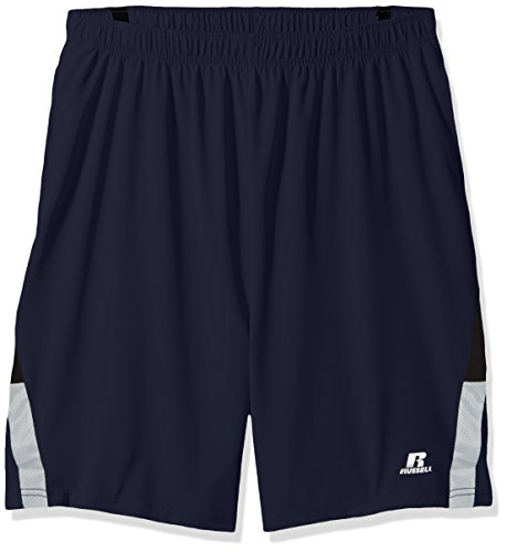 Russell Athletic Men's Big and Tall Pieced Woven Short with The Curved Insert, Cobalt, (Big Tall Athletic Wear)