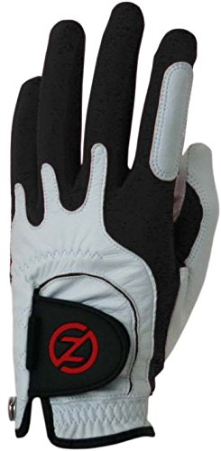 Zero Friction Mens Cabretta Premium Leather Golf Gloves, Left Hand, One Size, Black
