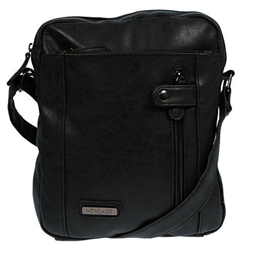 LLUPP - Bolso al hombro para mujer gris gris 22 x 28 x 5 cm negro