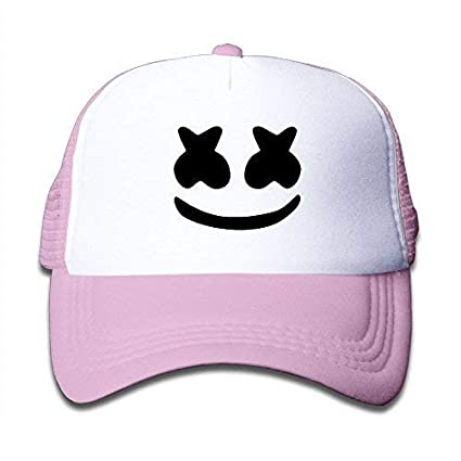 Image Unavailable. Image not available for. Color  LFishera Boys Girls Cool Marshmello  Face Cute Mesh Baseball Cap Pink a7b5d0f6b0f4