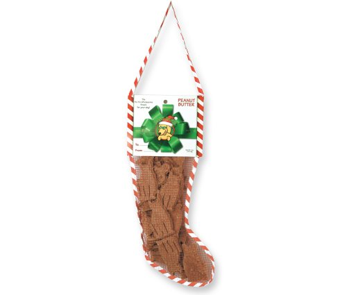 Bark Bars Mesh Christmas Stocking Peanut Butter Pet Treat, 6-Ounce ()
