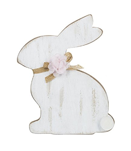 Ganz 7 inches width x 9 inches height Natural Spring Bunny Silhouette Plaque with Easel Home Decor -