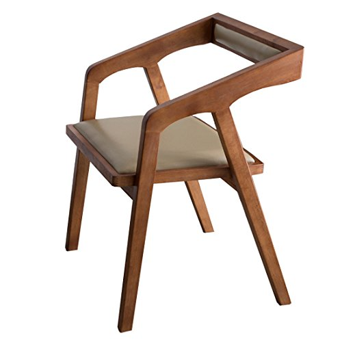KXBYMX Simple Restaurant Pure Wood Dining Chair, Home Stool Cafe Leisure Back Chair Office Reception Chair Kitchen Lounge Furniture ()