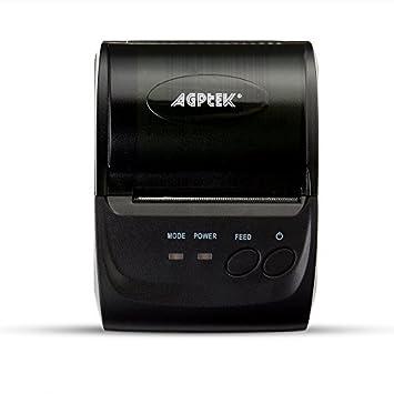 AGPtek Impresora de Recibos térmicos, Bluetooth de Impacto ...
