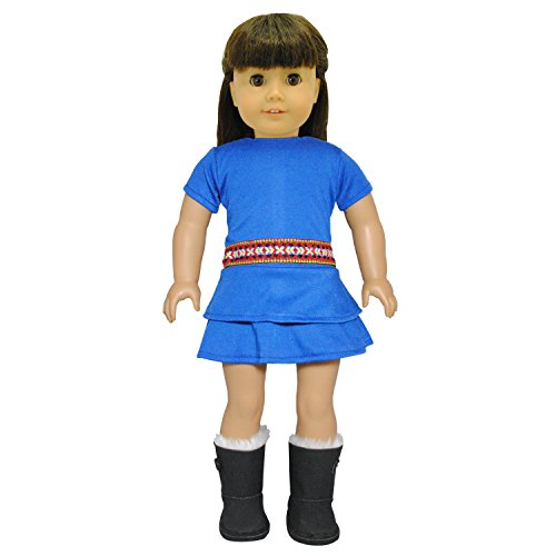 Blue Gypsy Dress for American Girl and Madame Alexander Dolls