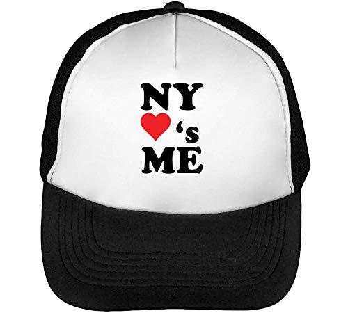 Blanco Beisbol Snapback Gorras Ny Hombre Loves Fashioned Negro Heart wxqCO8YnA