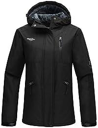 Wantdo Women's Hooded Windproof Ski Jacket Fleece Winter Coat