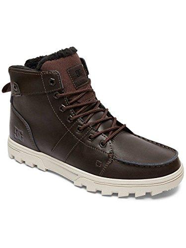 DC Shoes Woodland M, Stivaletti a Gamba Corta Mod. Classics, Senza Imbottitura Uomo Noir - Brown/Tan