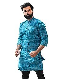 Om printed Kurta for man handmade religious kurtas from India