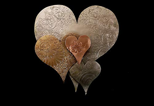 (Metal Wall Art Heart Cloud #1576, Art Deco Steampunk Industrial Vintage Upcycled - Ready for Housewarming Wedding Birthday Christmas Present ! )