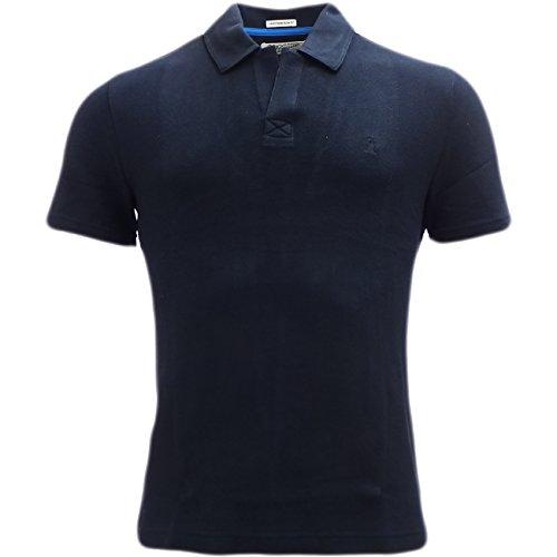 Original Penguin Herren Poloshirt, Einfarbig Blau Blau