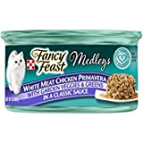 Fancy Feast Medleys White Meat Chicken Primavera with Garden Veggies & Greens in a Classic Sauce, 3-oz, case of 24