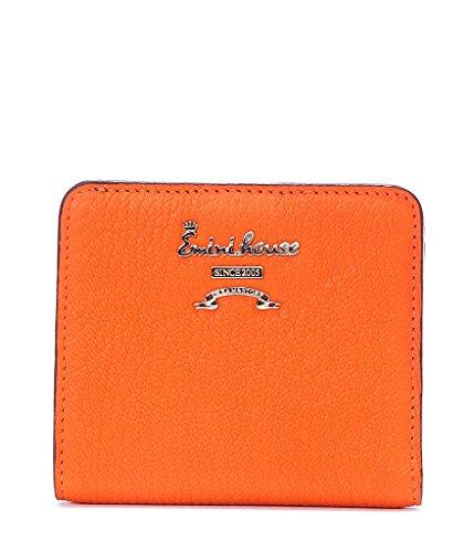 EMINI HOUSE Classic Women Wallet Sheepskin Bifold Wallets for Women Purse-Orange (Womens Wallet Sheepskin)