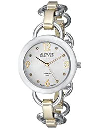August Steiner Women's AS8132TTG Two-Tone Watch with Link Bracelet