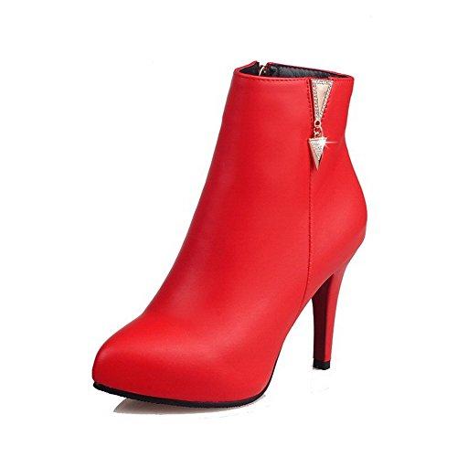 AllhqFashion Closed Women's High-Heels Solid Pointed Closed AllhqFashion Toe Soft Material Zipper Boots B01MG130TF Shoes 20ac66