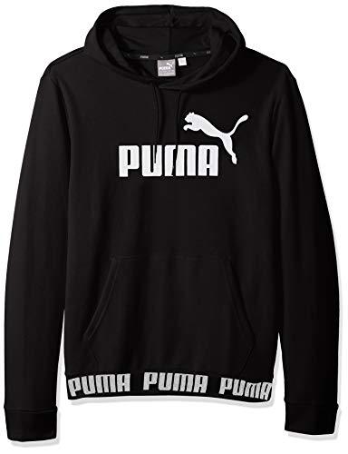 PUMA Men's Amplified Hoodie, Cotton Black, M