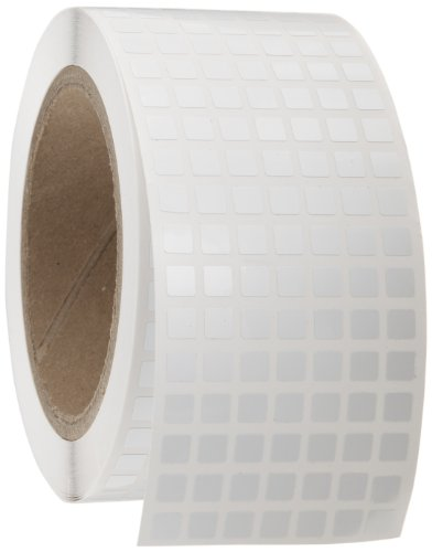 """UPC 662820299127, Brady THT-70-473-20 0.25"""" Width x 0.25"""" Height, B-473 Static Dissipative Polyester, Gloss Finish White Thermal Transfer Printable Label (20000 per Roll)"""