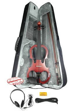 Fever VLE-BW Solid Wood Electric Violin with Ebony Fittings - Brown by Fever