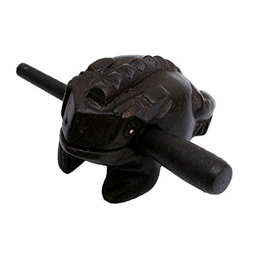 (Dolland Wooden Frog Rasp Musical Instrument Tone Block Wood Frog Rasp Super Guiro)