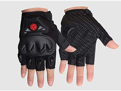 BLACK,XL SCOYCO Half Finger Shockproof Wear-Resistant Ventilate Cycling Gloves