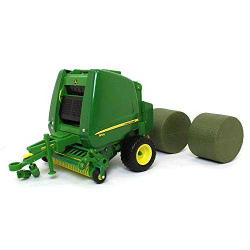 - ERTL Big Farm 1:16 John Deere 854 Round Baler with Bales