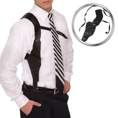 [Amscan Boys Adult Roaring '20s Costume Party Gun Holster (1 Piece), Black, One Size] (1920s Halloween)