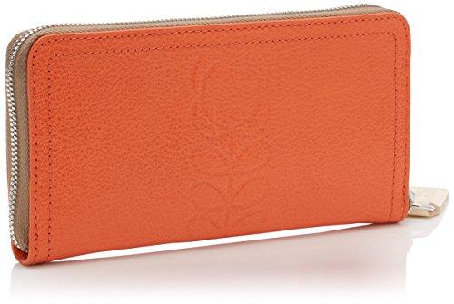 Embossed Flower Leather Big Wallet Wallet, Orange, One Size by Orla Kiely (Image #2)
