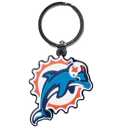 Cut Dolphin Ring - Siskiyou NFL Miami Dolphins Flex Rubber Key Chain