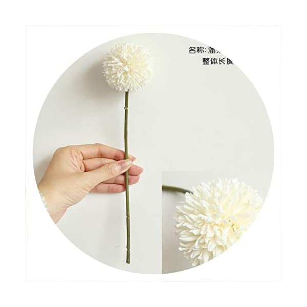 Souiey-shop 1Pcs 29cm Artificial Dandelion Flower Silk Hyacinth Flower Wedding Decoration for Home Party Hotel Garden Decorations,Milky White
