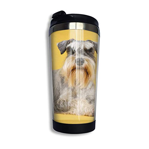 (Arsmt Dog Schnauzer Resting Stainless Steel Coffee Mug Leakproof Insulated Tea Cup)
