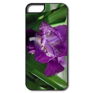 IPhone 5S Cases, Purple Flower White/black Cases For IPhone 5