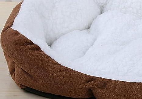 Cdet Cama para mascotas redonda o de forma oval dimple fleece nesting perro cueva para gatos y perros pequeños,46cm*42cm,Naranja: Amazon.es: Productos para ...