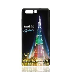 Huawei P10 Plus TPU Silicone Case With Burj Khalifa Illuminated With UAE Flag Colors