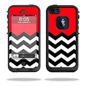 Cerhinu Protective Vinyl Skin Decal Cover for LifeProof iPhone 5 Case 1301 fre Sticker Skins Red Chevron