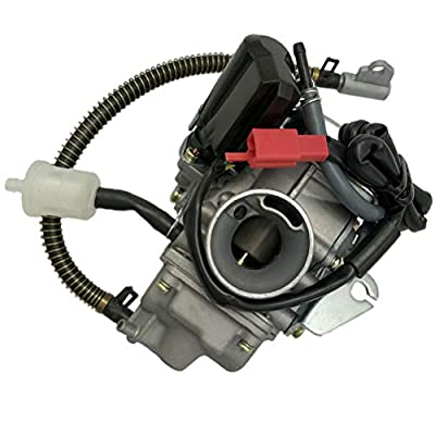 150cc Carburetor for GY6 4 Stroke Engines Electric Choke Motorcycle Scooter 152QMJ 157QMI with Air Filter Intake Manifold: Automotive