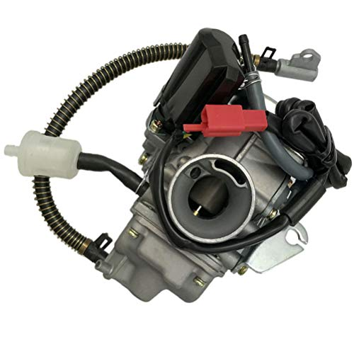 150cc Carburetor for GY6 4 Stroke Engines Electric Choke Motorcycle Scooter 152QMJ 157QMI with Air Filter Intake Manifold by Auto parts (Image #1)