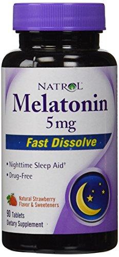 Natrol Melatonin Strawberry Dissolve Tablets