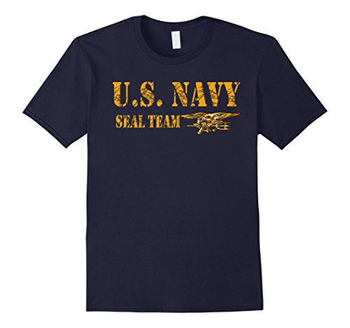 Mens U.S. NAVY SEAL TEAM ORIGINAL LOGO T-SHIRT Large Navy - United States Navy Seal Seals