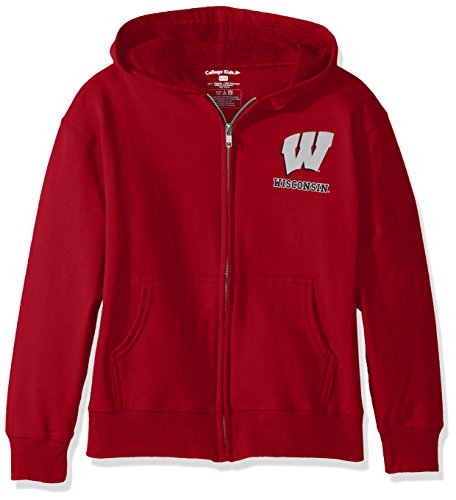 NCAA Wisconsin Badgers Youth Zip Hoodie, Size 8-10 - Wisconsin Badger Tshirts Size 10