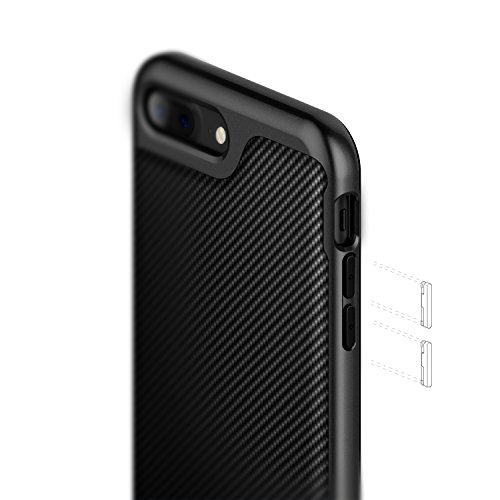 new style 5eccd ea5d4 Caseology Envoy for Apple iPhone 8 Plus Case (2017) / for iPhone 7 Plus  Case (2016) - Premium Leather - Matte Black