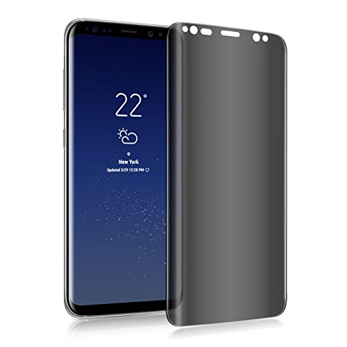 OZOP E-COMMERCE 3D Galaxy S8 Screen Protector Privacy Anti-spy Tempered Glass Screen Film 9H Hardness Anti-Scratch Anti-Peep Shield for Samsung Galaxy S8, Easy Install Bubble Free (Transparent) (Bubble 3d)