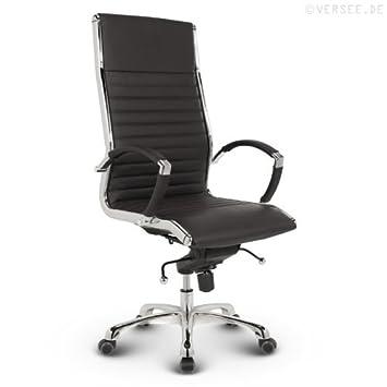 Bürostuhl design  Versee Leder Design Drehstuhl Chefsessel Bürostuhl Montreal ...