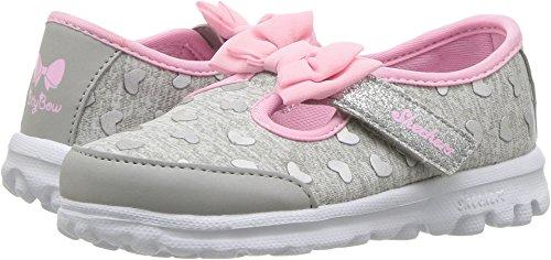 Skechers Go Walk-Bitty Hearts Girls' Infant-Toddler Slip On 10 M US Toddler Grey-Pink by Skechers